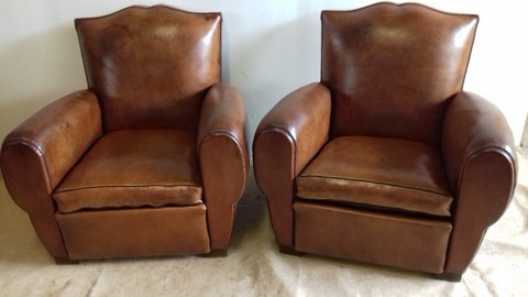 Pair of Club Mustache Chairs