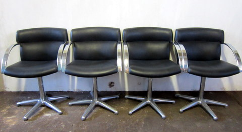 Four 1980 vintage armchairs