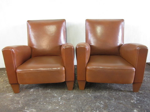 Pair of club armchairs 1950s