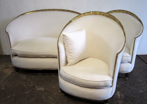 1920s Art Deco White Lounge
