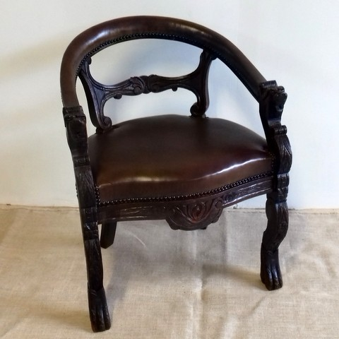 Carved office armchair
