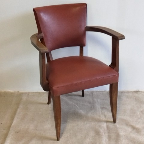 Vintage bridge armchair