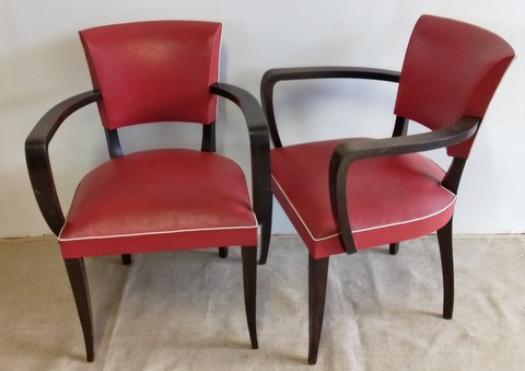 Pair of bridge armchairs