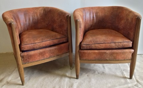 Pair of 1930s Art Deco armchairs