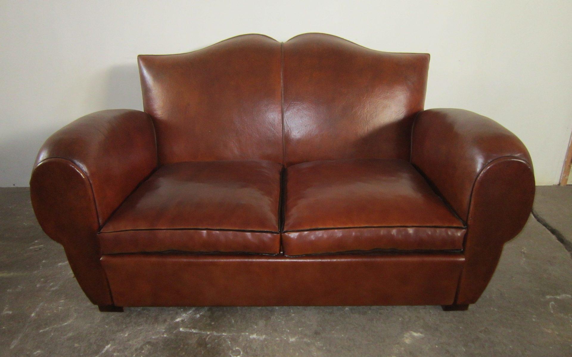 1940s Club Mustache Sofa