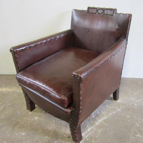 1940s studded Club armchair