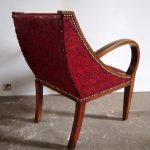 Fauteuil Art déco rouge - Detail 2