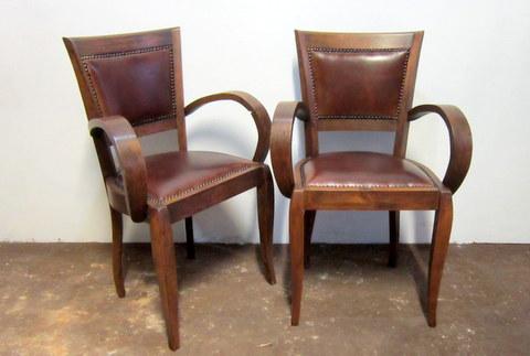 Paire de fauteuils bridge année 1920
