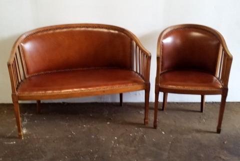 Banquette et fauteuil art déco