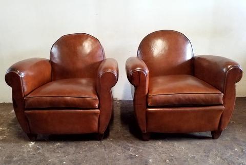 Paire de  fauteuils dossier arrondi